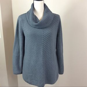 Style & Co Cowl Neck Knit Gray Sweater Sz XL